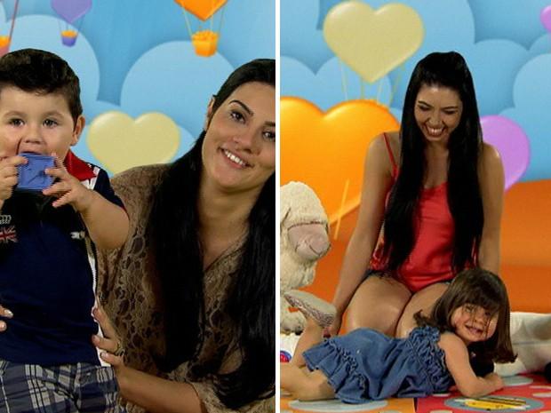 Quem você quer salvar: Bruna, mãe de Olavo, ou Geisiane, mãe da Lizz? (Foto: Mais Você/ TV Globo)