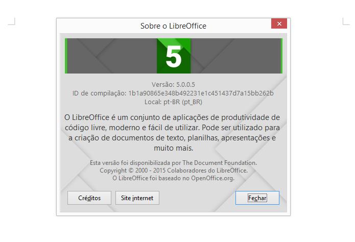 Nova versão do LibreOffice é compatível com o Windows 10 (Foto: Reprodução/LibreOffice)