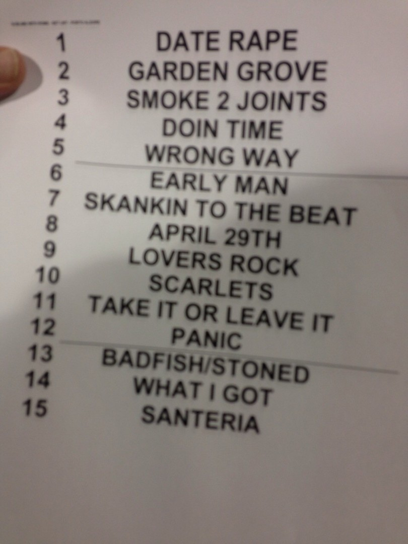 Setlist: Sublime With Rome no Planeta Atlntida (Foto: Multishow)