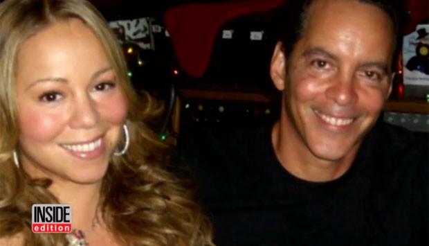 Mariah Carey e o irmão Morgan (Foto: Reprodução)