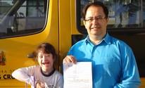 Pai conquista na Justiça direito de filha com Down ter atendimento na rede municipal de Mogi (Alessandro Guedes/ arquivo pessoal)