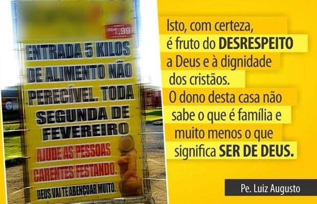 Padre faz campanha contra outdoors com anúncios eróticos: 'Agressivos' em GoIânia, Goiás 2 (Foto: Divulgação)