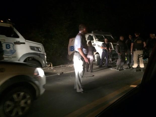 Criminosos armados tentam assaltar carro-forte no Norte do Espírito Santo (Foto: Divulgação/Polícia Civil)