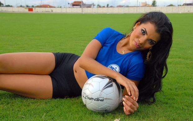 Patrícia Braga, candidata do Esporte Clube Macapá ao título de Musa do Amapazão 2014 (Foto: Gabriel Penha/GE-AP)