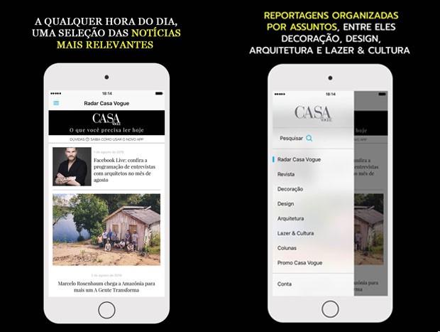 Casa Vogue lança aplicativo (Foto: Reprodução)