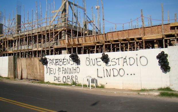 Obras do Floro de Mendonça (Foto: Marcos Mendonça)