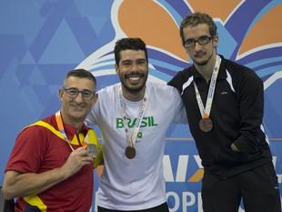 Daniel Dias Sebastian Rodriguez Roy Perkins evento-teste natação paralímpica (Foto: Daniel Zappe/MPIX/CPB)