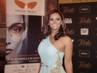 Viviane Araújo participa de estreia e evita falar sobre vídeo polêmico