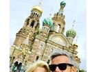Flávia Alessandra segue viagem romântica e chega à Rússia