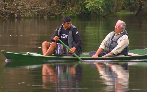 Francisco José em expedição na Amazônia (Foto: TV Globo)