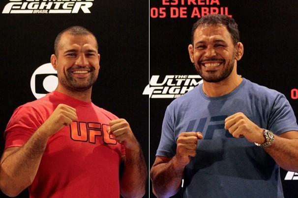 Maurício Shogun e Rodrigo Minotauro são técnicos do The Ultimate Fighter Brasil 4, em Las Vegas (Foto: Reprodução/Rede Globo)