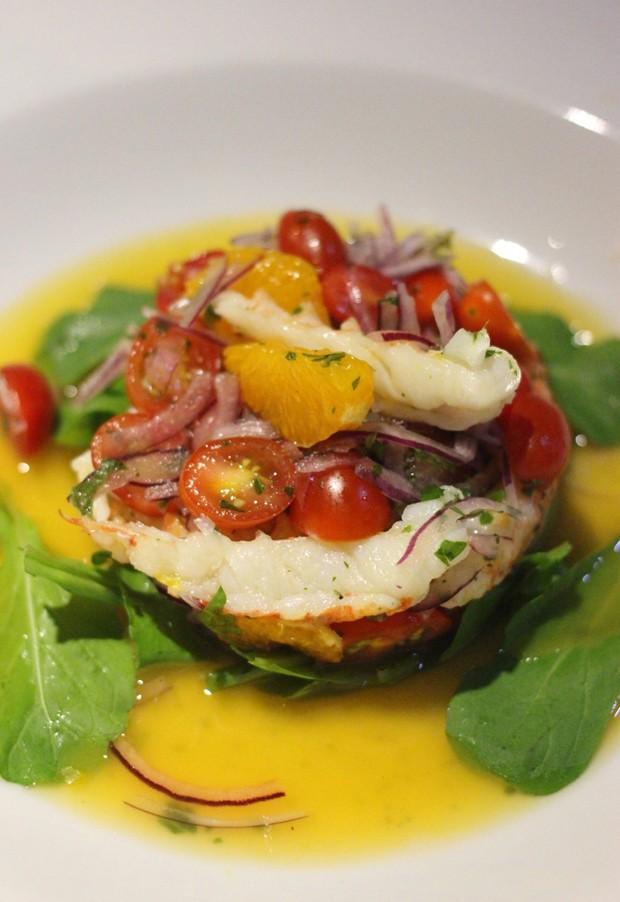 Receita: ceviche de lagostin com tangerina (Foto: Divulgação)