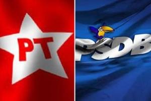 PT e PSDB (Foto: Arquivo Google)