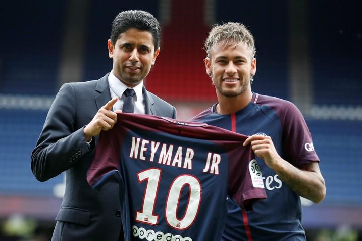 PSG,  Nasser,  presidente, Neymar,  Al-Khelaïfi