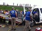 Acidente entre caminhão e van deixa 4 pessoas feridas em Ponta Grossa