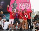 Evento com jogadores do Bayern de Munique é destaque na Times Square