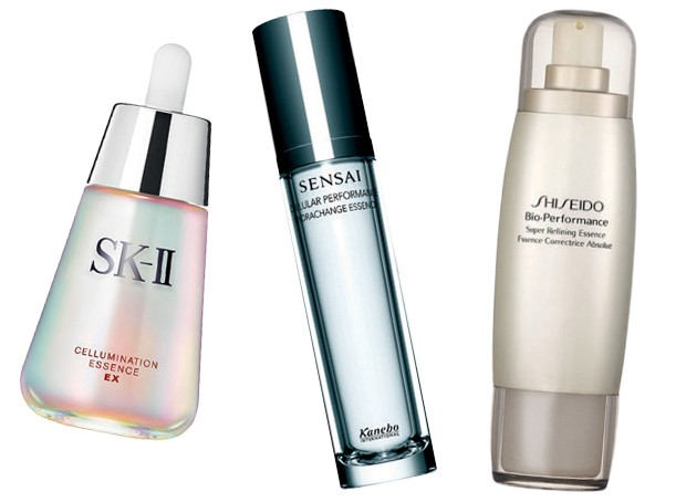 Cellumination Essence EX, US$ 220, SK-II; Sensai Hydrachange Essence, US$ 150, Kanebo; Bio-performance Super refining Essence, R$ 451, Shiseido (Foto: Reprodução)