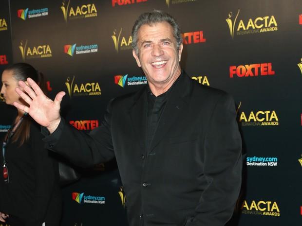 Mel Gibson em prêmio em Los Angeles, nos Estados Unidos (Foto: Jonathan Leibson/ Getty Images/ AFP)