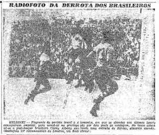 """Depois de abrir 2 a 0, o Brasil deixou a Alemanha empatar e perdeu na prorrogação (Foto: Reprodução jornal """"O Globo"""")"""
