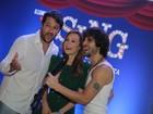 Mariana Ximenes, Fiuk e Marcelo Serrado soltam a voz em pré-estreia