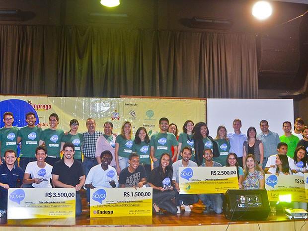 Quatro ideias inovadoras foram premiadas neste sábado (29), na Grande Final do Desafio Inove + (Foto: Universitec/ Manoel Neto)