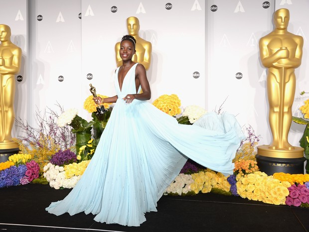 Lupita Nyong'o no Oscar em 2014 (Foto: Getty Images)