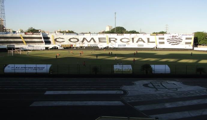 Treino do Comercial no Palma Travassos (Foto: Paulo Bahia / Comercial FC)