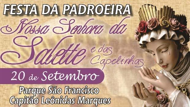 Participe da Festa da Padroeira de Capitão Lêonidas Marques (Foto: Divulgação)