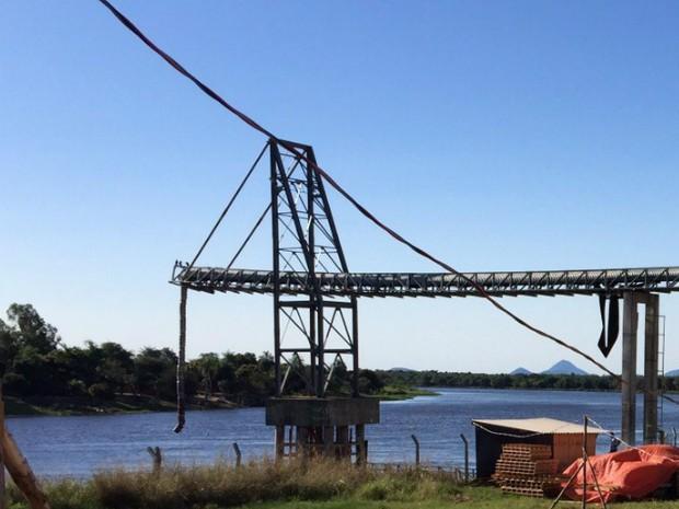 Terminal de Porto Murtinho, no rio Paraguai, volta a operar no dia 20 de outubro, com exportação de açúcar (Foto: Divulgação/Semade)