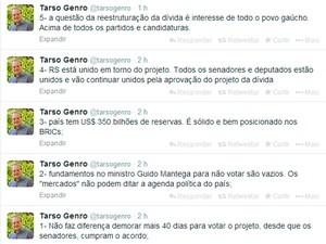 Tarso Genro criticou tentativa de adiar projeto (Foto: Reprodução)