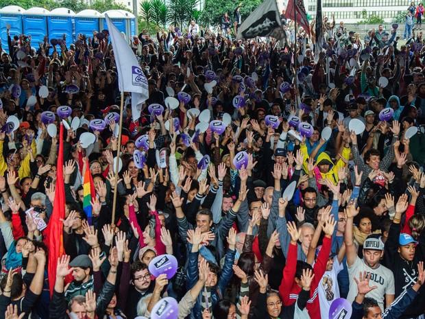 Professores votam pelo fim da greve na categoria após 92 dias (Foto: Peter Leone/Futura Press/Estadão Conteúdo)