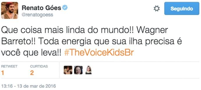 Renato Góes comenta o 'The Voice Kids' (Foto: Gshow)