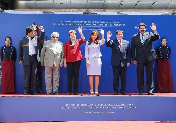 Presidenta Dilma Rousseff durante cerimônia de Abertura da XLVII Cúpula do Mercosul e Estados Associados. (Paraná, Província de Entre Rios - Argentina - 17/12/2014 (Foto: Roberto Stuckert Filho/PR)
