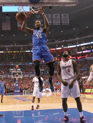 Kevin Durant, Thunder x Clippers (Foto: Getty)