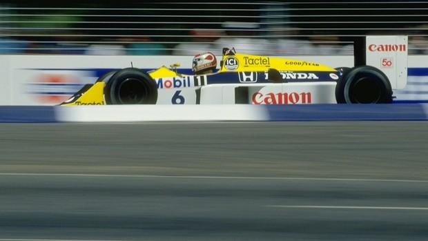 Nelson Piquet em ação na temporada 1987 (Foto: Getty Images)
