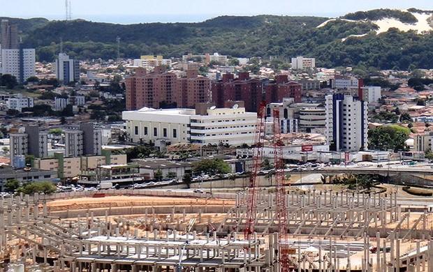 obras estádio das Dunas Copa do Mundo 2014 (Foto: Arena)