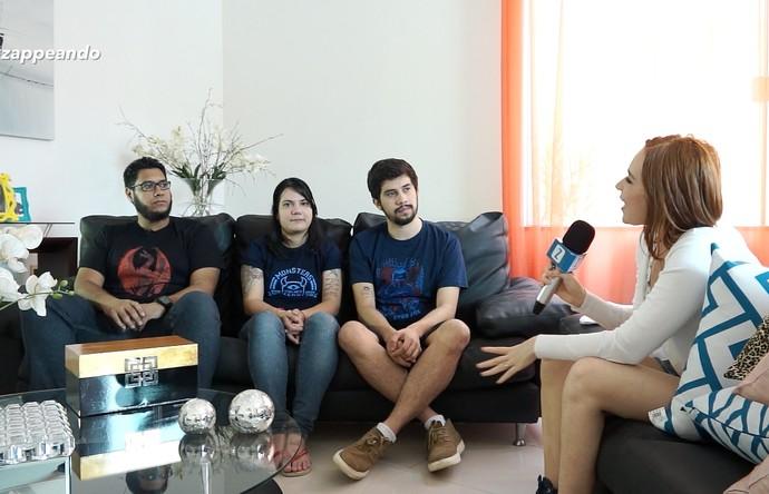 Jéssica Monteiro conversa com nerds e geeks (Foto: Rede Amazônica)