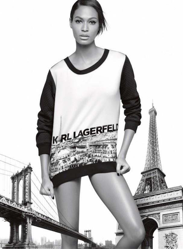 Joan Smalls na campanha da linha Karl Lagerfeld Paris (Foto: Divulgação)