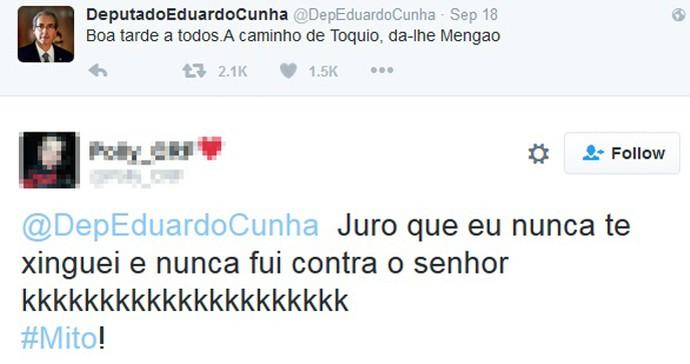 Reprodução Twitter Eduardo Cunha (Foto: Reprodução Twitter)
