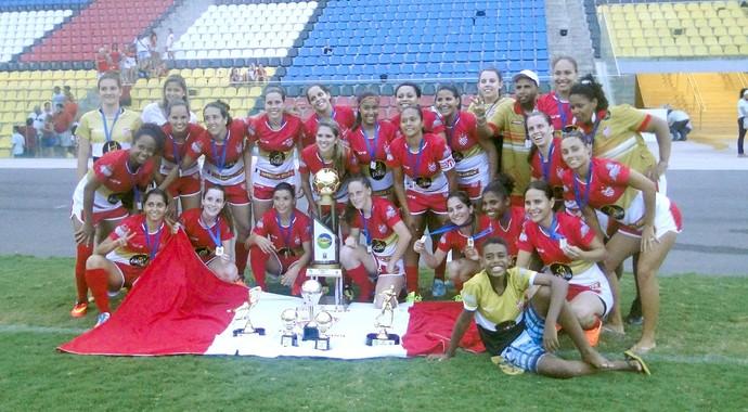 Vila Nova-ES, campeão do Campeonato Capixaba de futebol feminino 2015 (Foto: Divulgação/Vila Nova-ES)