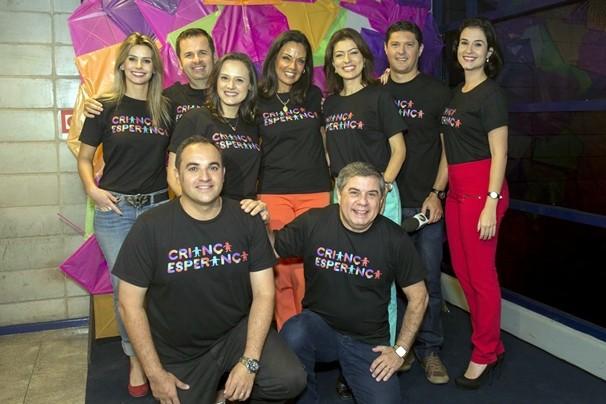 Colegas das emissoras afiliadas à Globo estão juntos na cobertura do Dia da Esperança. (Foto: Globo)