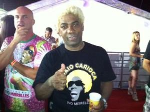 Músico carioca Ivo Meireles esteve em um dos camarotes do Carnatal 2012 nesta quinta (6) (Foto: Jomar Freitas/G1)