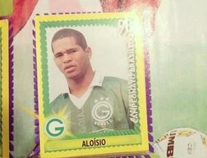 Aloísio, em álbum de figurinha com a camisa do Goiás (Foto: Aloísio Chulapa/reproduçãoFacebook)