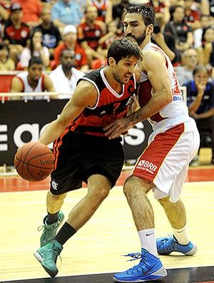 Nicolás Laprovittola basquete Flamengo x Brasília NBB (Foto: Alexandre Vidal / Fla Imagem)