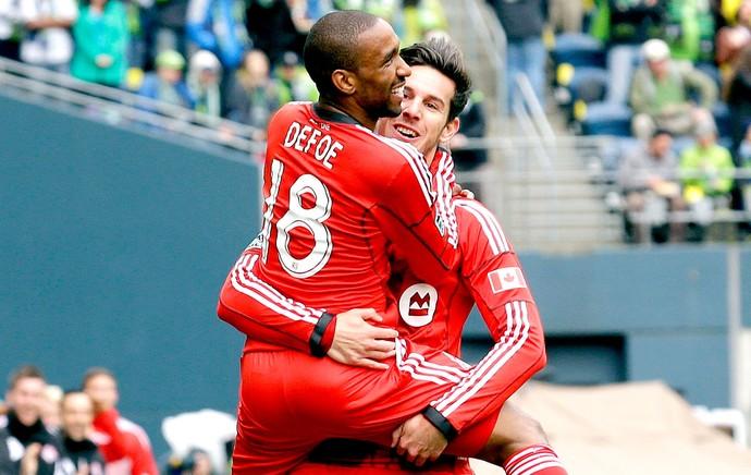Jermain Defoe comemoração gol jogo Toronto MLS (Foto: AP)