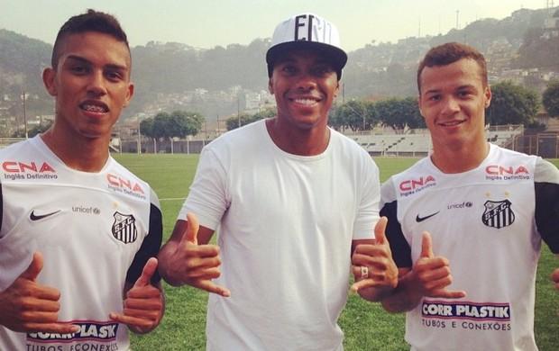 Robinho quer voltar para o Santos