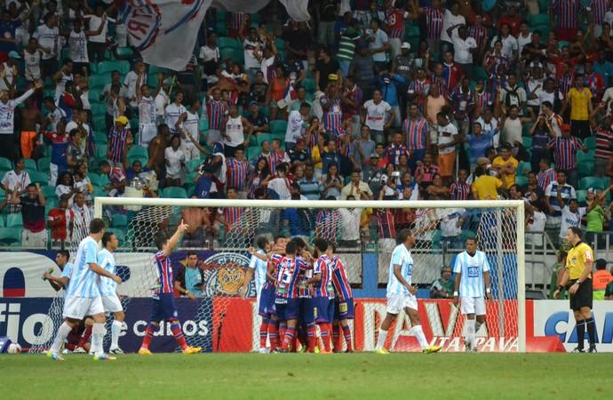 Bahia gol contra o Macaé (Foto: Romildo de Jesus/Futura Press)
