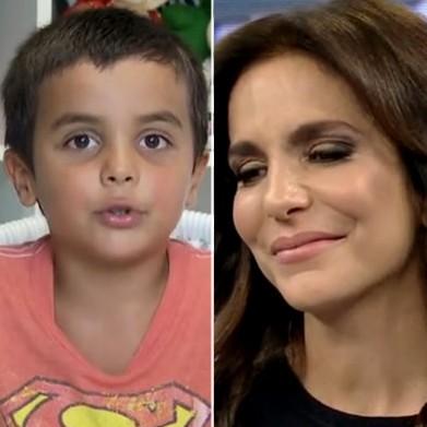 Ivete Sangalo e filho Marcelo (Foto: SuperStar/TV Globo)