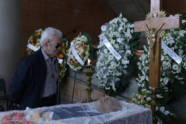 Juca de Oliveira no velório de Antônio Abujamra (Foto:  Thiago Duran/AgNews)