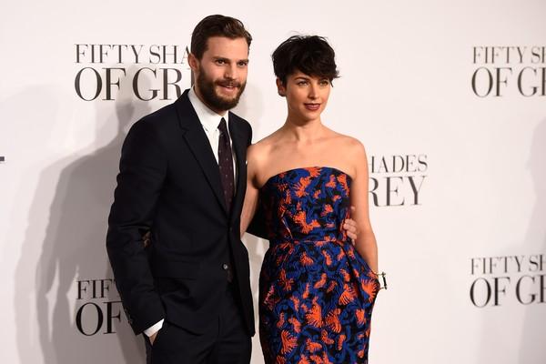 O ator Jamie Dornan e sua esposa, a cantora Amelie Warner (Foto: Getty Images)